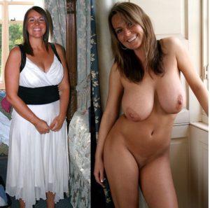 angezogen und nackt