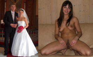 hochzeitsfoto privat nackt sexy ehefrau beine breit
