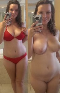 meine freundin im bikini und nackt