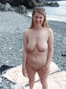 nude milf at the beach
