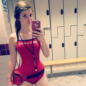 badeanzug teen selfie schoen huebsche frau